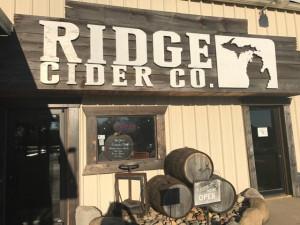 Ridge Cider Company Front Entrance Grant MI