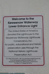 Keweenaw Waterway Lower Entrance Light Information Sign