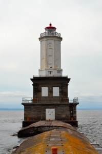 Keweenaw Waterway Lower Entrance Light Vertical Lighthouse