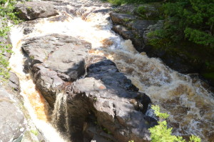 Sturgeon Falls Top of Falls Michigan Gorge Wilderness