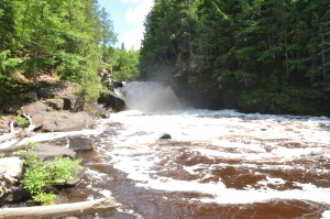 Sturgeon Falls Wide View Gorge Wilderness River Upper Peninsula