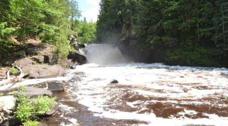 Sturgeon Falls - A Waterfall in the Sturgeon River Gorge Wilderness