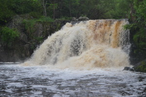 Interstate Falls Wisconsin Michigan Waterfall