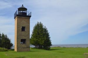 Peninsula Point Light Lake Michigan