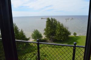 Peninsula Point Light Tower View Lake Michigan