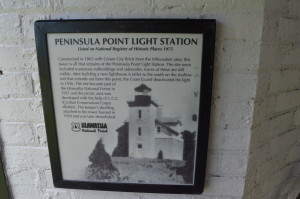 Peninsula Point Lighthouse Information Sign