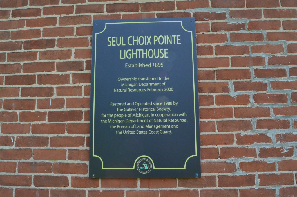 Seul Choix Point Lighthouse NRHP Info Sign