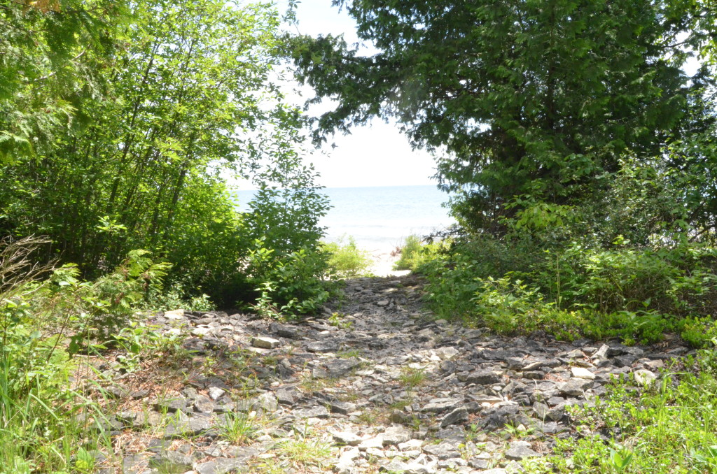 Seul Choix Point Lighthouse Shoreline Hiking Path