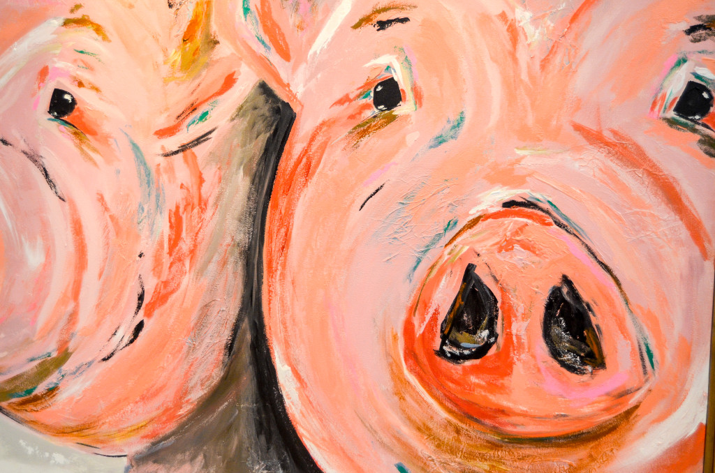 """""""Farmed"""" by Mary-Catheryn Baker, inside the Gerald R. Ford Presidential Museum"""