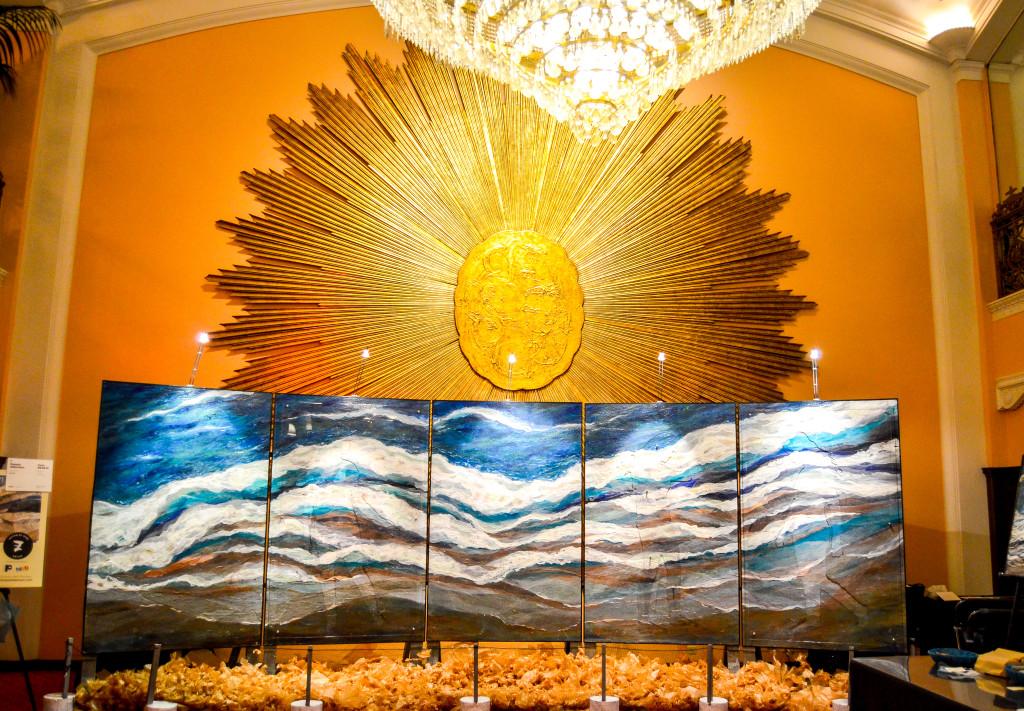 """Let Go"" by Pamela Alderman, inside the Amway Grand Plaza Hotel"
