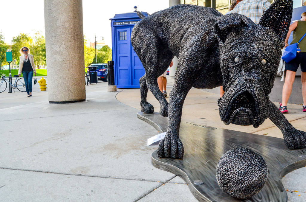 """""""My Favorite Thing"""" by Travis Emmen, in front of Barnes & Thornburg LLP on Monroe Ave."""