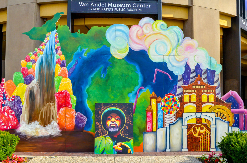 """""""The Pursuit of Ahhwesomeness Presents: PuRe MiCHiMaGiNaTioN"""" by Bird Clarkson, at the Grand Rapids Public Museum"""