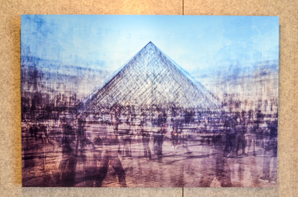 """Pyramide du Louvre (or Farewell Paris, a Pyramid Scheme)"" by Al Wildey, at the Gerald R. Ford Presidential Museum"