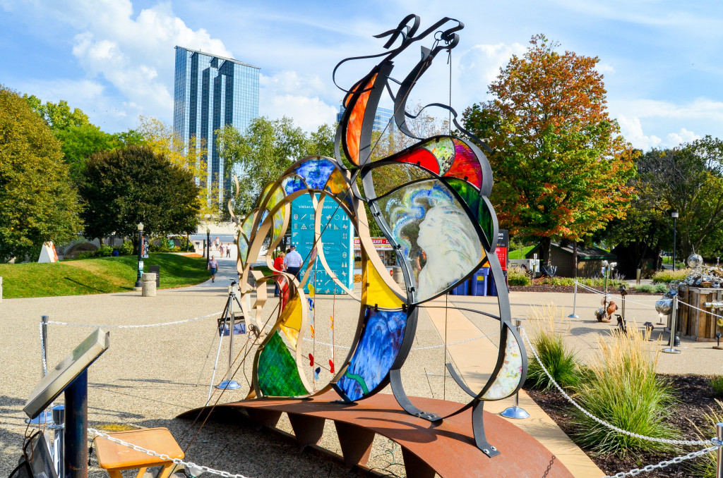 """""""Spirit of Freedom"""" by Julie McDonough, outside of the Gerald R. Ford Presidential Museum"""