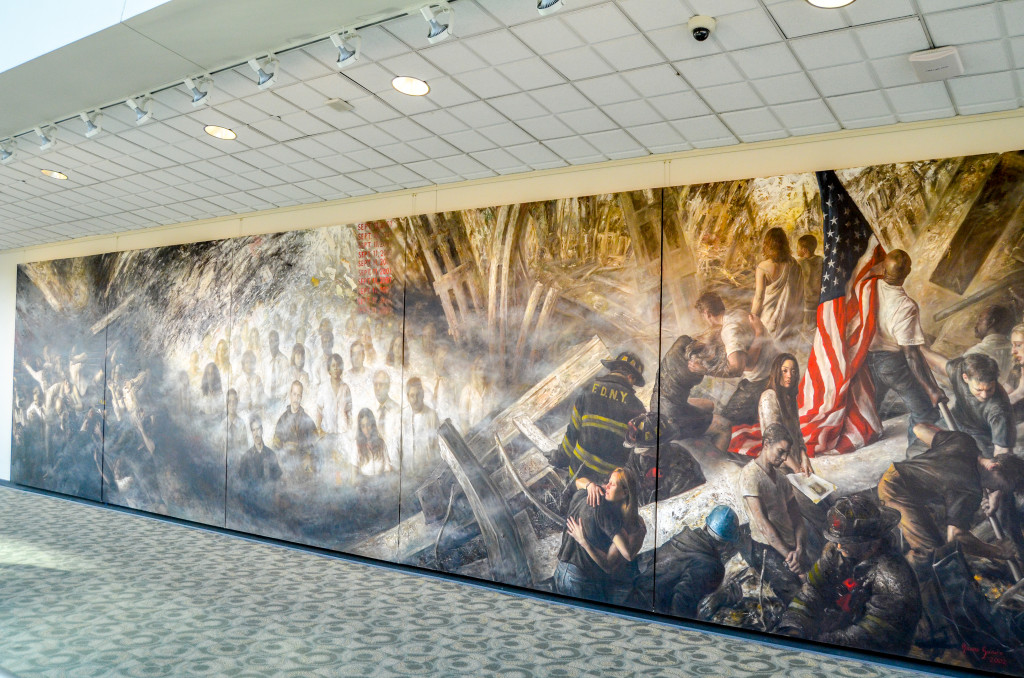 """Tragedy, Memory and Honor"" by Bruno Surdo, inside DeVos Place Convention Center"