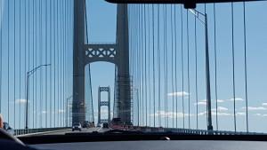 Mackinac Bridge Construction Painting Towers