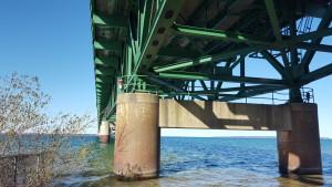 Mackinac Bridge Underneath