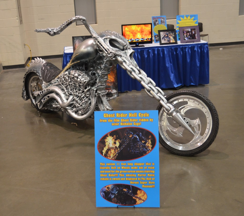 The Ghost Rider motorcylce was one of several vehicles at Grand Rapids Comic Con