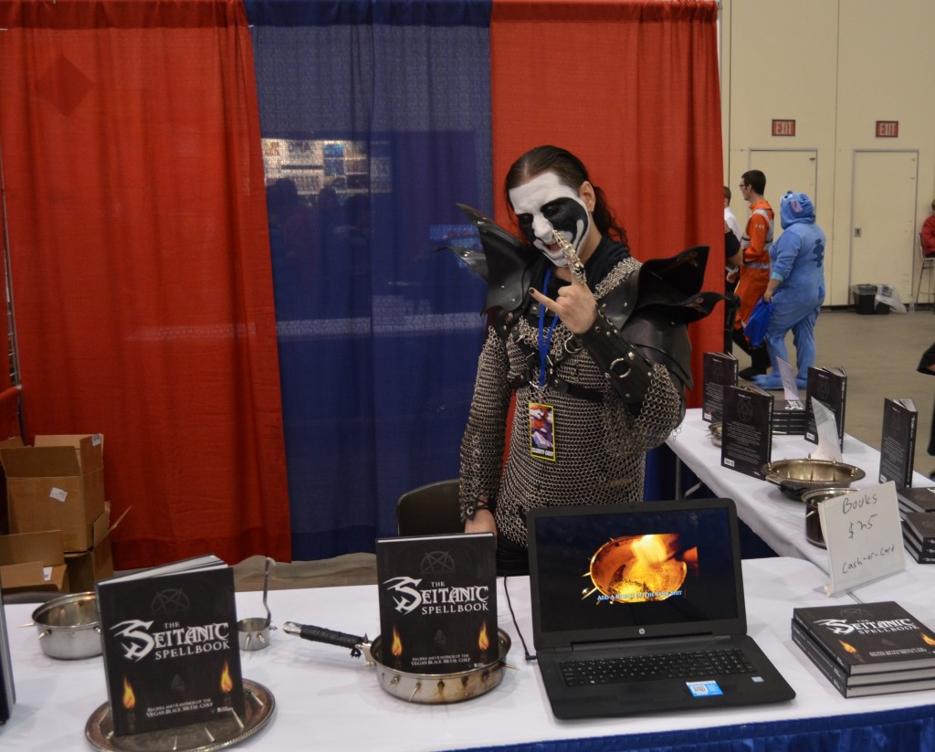 Grand Rapids Comic Con even got YouTube celebrity Vegan Black Metal Chef this year, who had a booth, and also did a live cooking demonstration