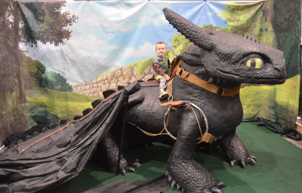 My oldest on Toothless