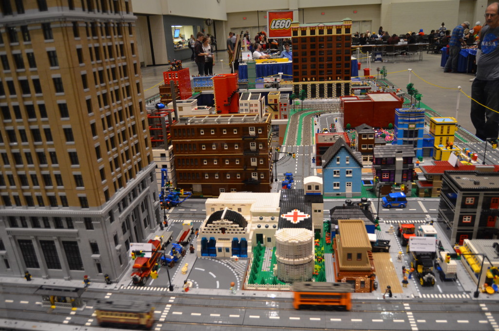 The LEGO town/train area was a favorite for kids