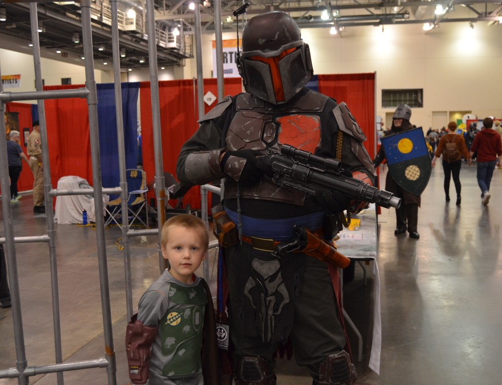 The Mandalorian Mercs also brought their cosplay group to the event