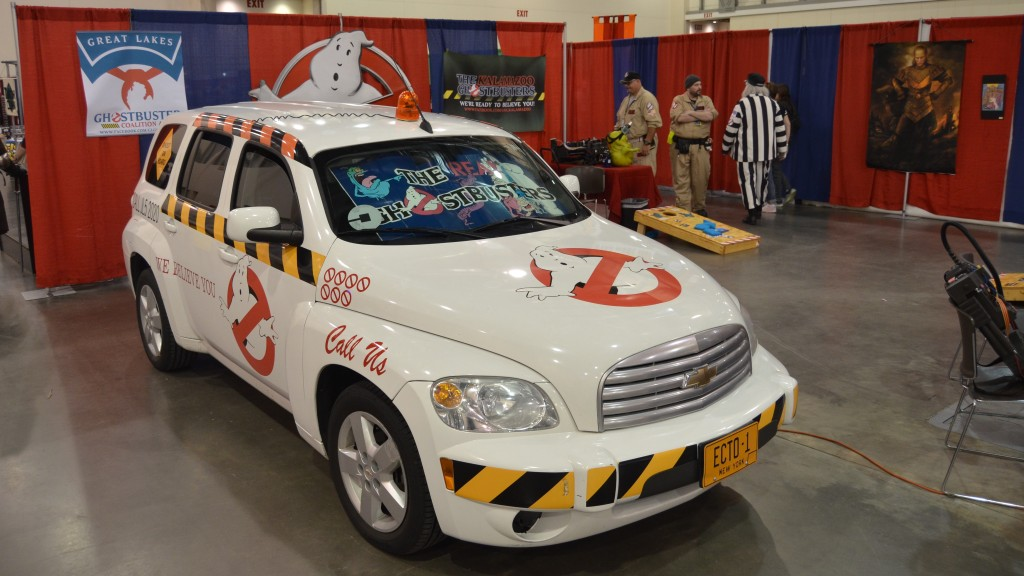The Ghostbusters booth featured this car