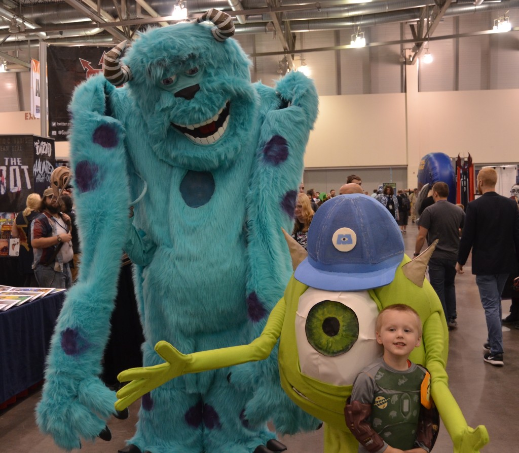 Mike and Sully from Monsters Inc.