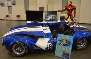 "Guests could get pictures with many vehicles, including this car used in ""Iron Man"""