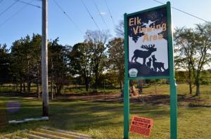 Gaylord Elk Viewing Park Sign Michigan