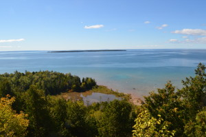 Gros Cap Overlook US2 Pure Michigan Byway