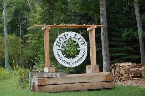 Hop Lot Brewing Company Sign Michigan