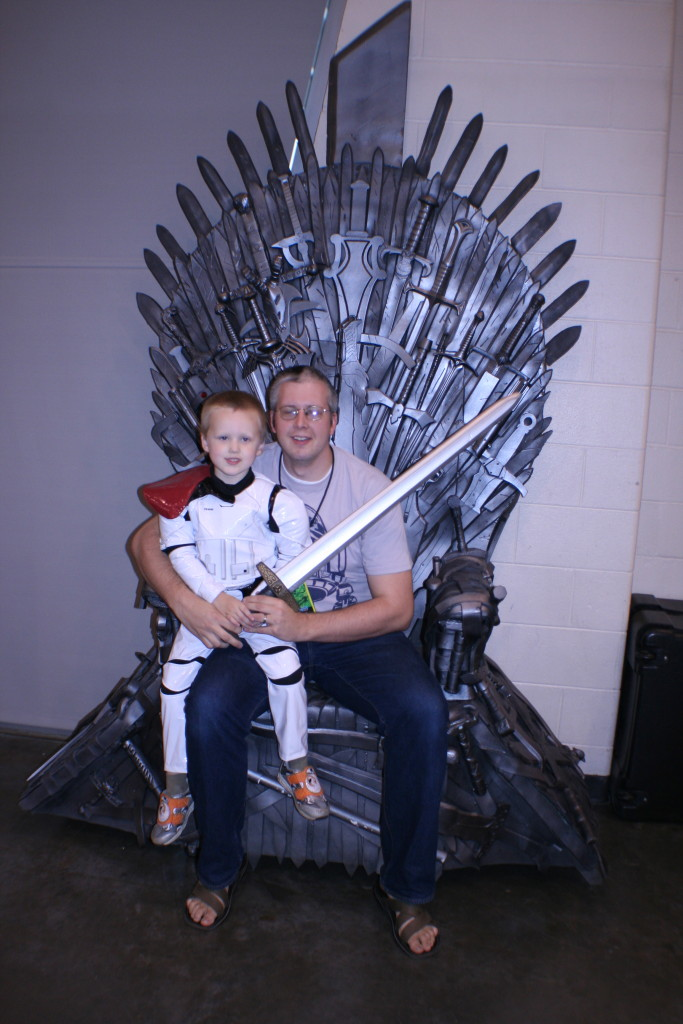 The Iron Throne from Game of Thrones was a prior creation from Miller