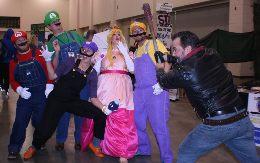 Negan posed with these Mario characters as well