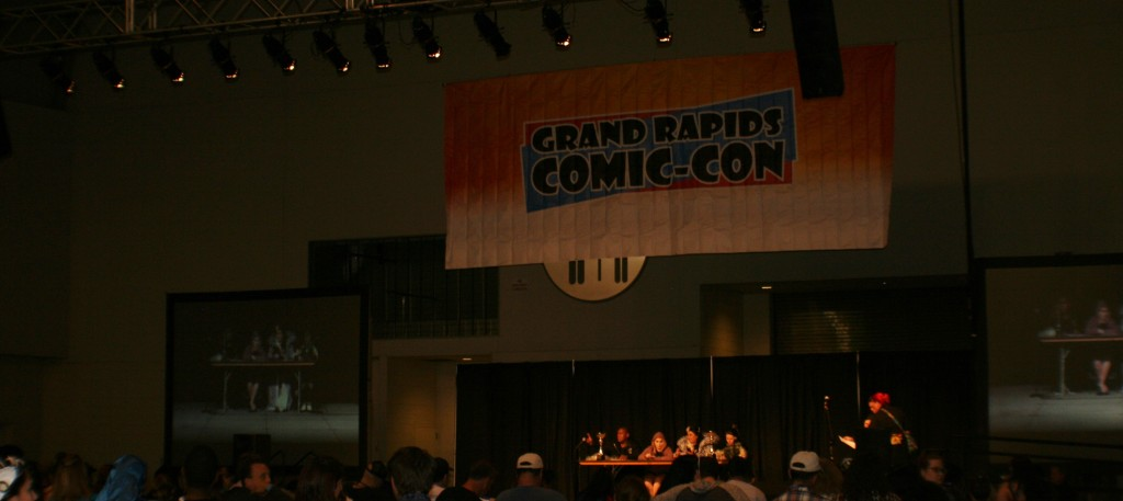 The Grand Rapids Comic Con featured several costume contests, including a kids costume contest seen here