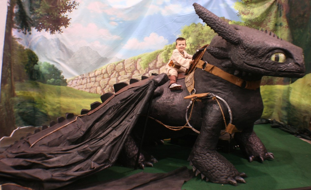 My youngest on Toothless