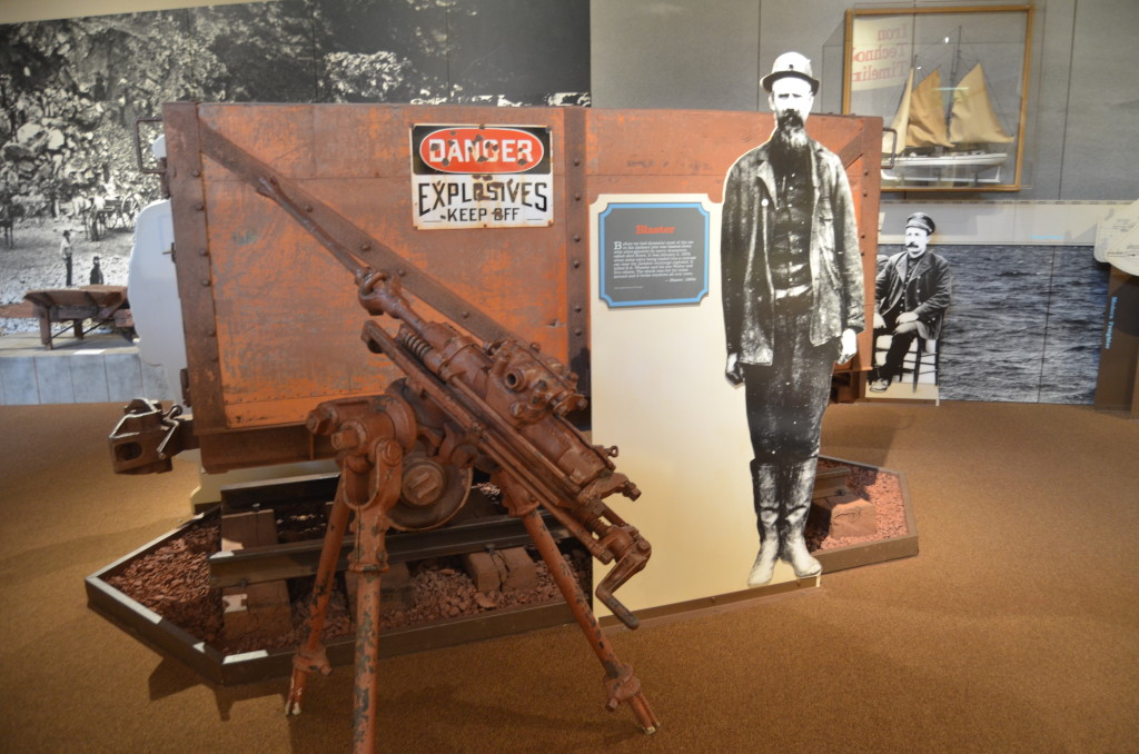 Michigan Iron Industry Museum Blaster Display