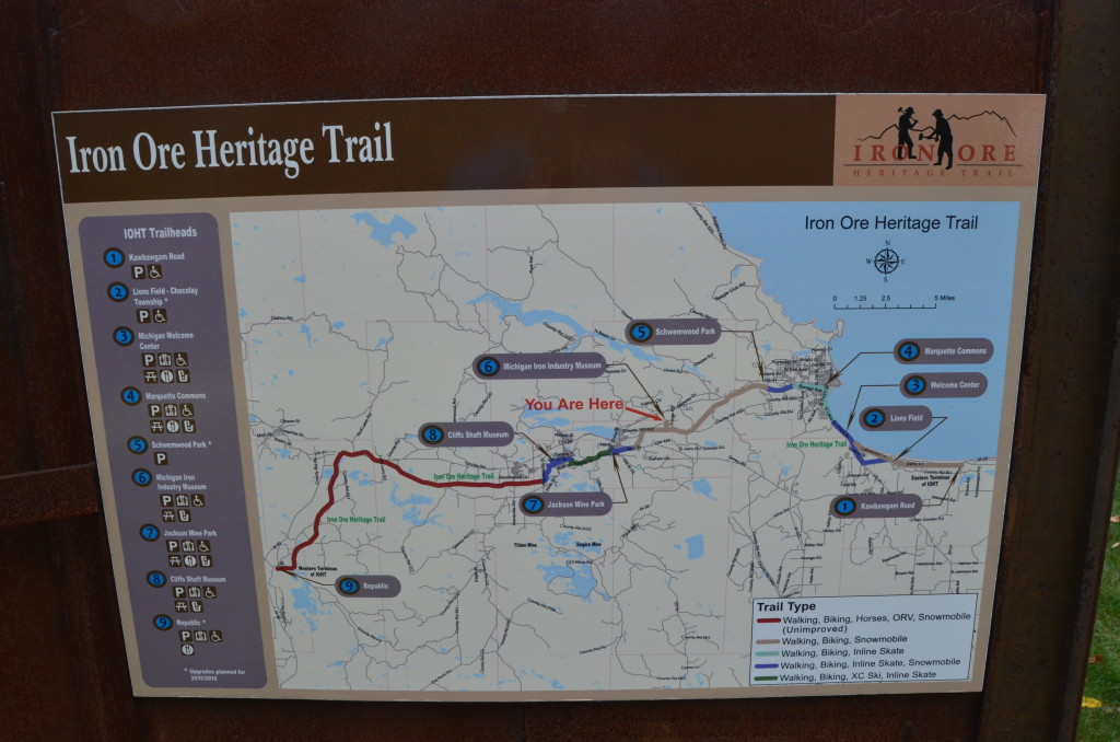 Michigan Iron Industry Museum Iron Ore Heritage Trail Map