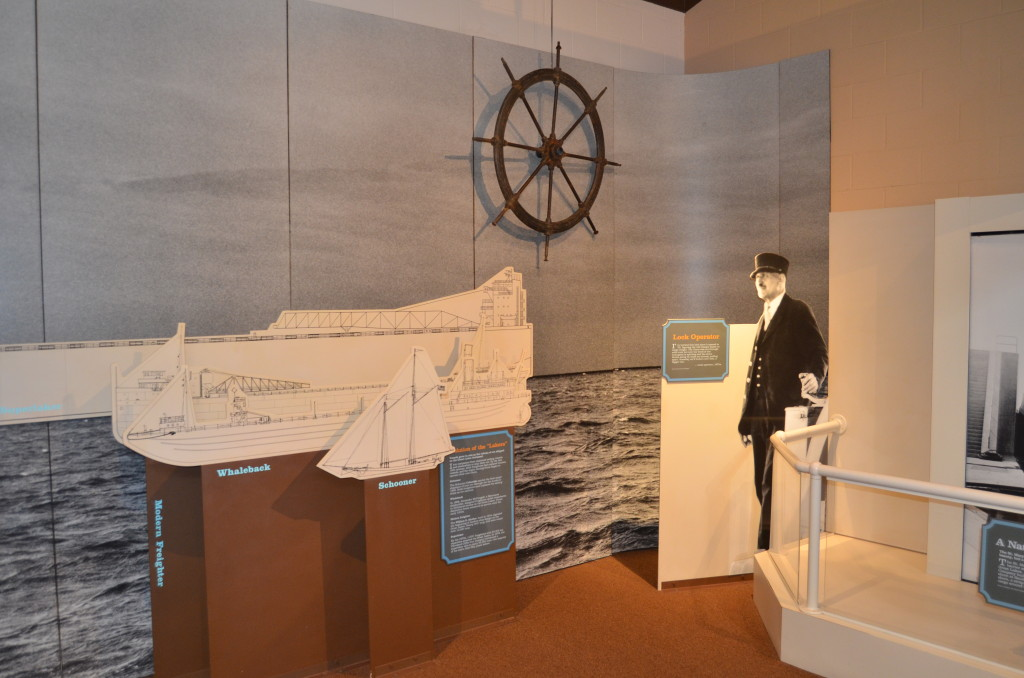 Michigan Iron Industry Museum Shipping Advancements Display