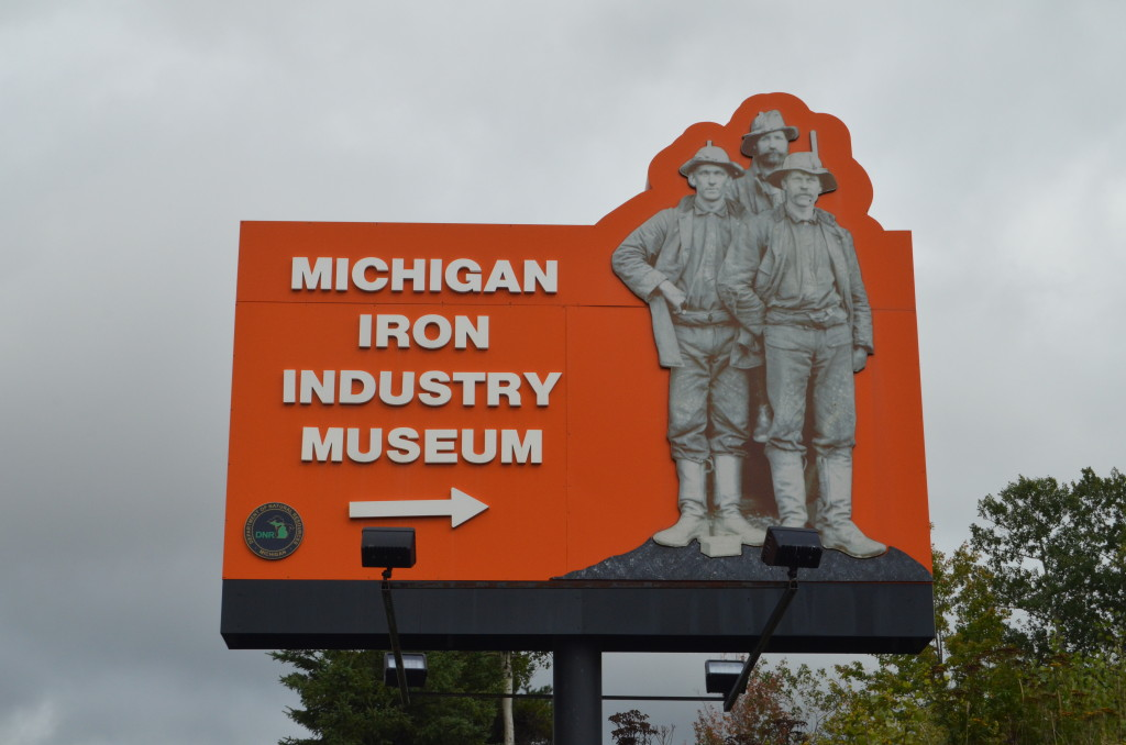 Michigan Iron Industry Museum Sign Negaunee