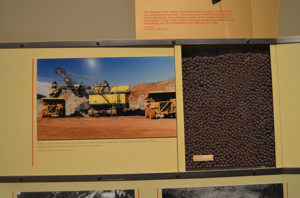 Michigan Iron Industry Museum Taconite Pellets Display