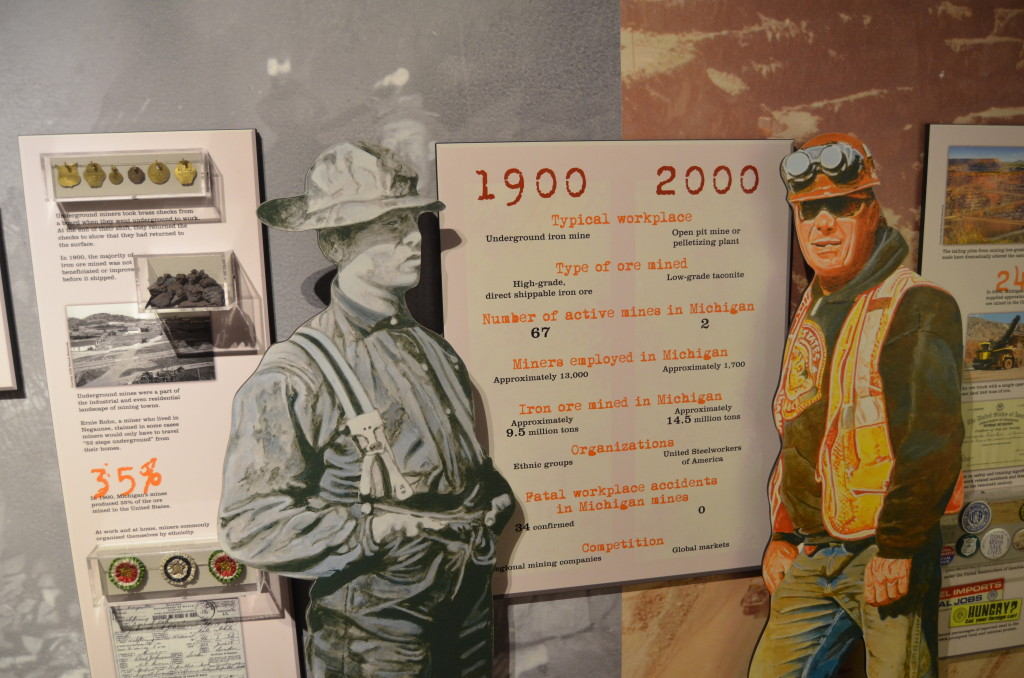 Michigan Iron Industry Museum Then and Now