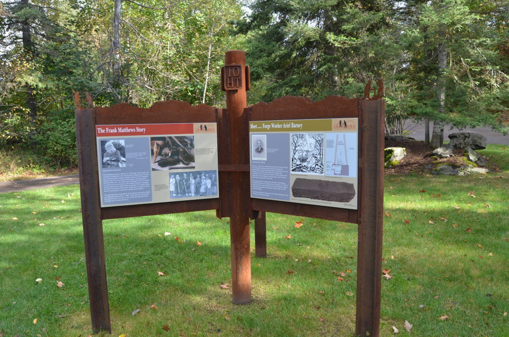 Michigan Iron Industry Museum Trail Signs Iron Ore Heritage
