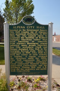 Alpena City Hall Michigan Historic Marker