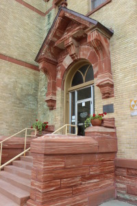 Houghton County Courthouse Entrance Michigan Keweenaw