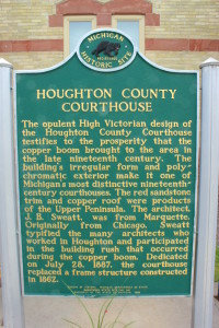 Houghton County Courthouse Michigan Historical Marker