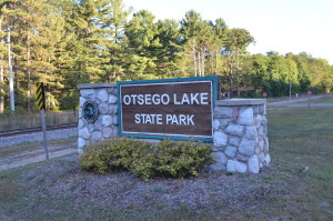Otsego Lake State Park Sign Gaylord