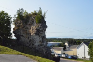 St. Anthony's Rock St. Ignace Michigan City view
