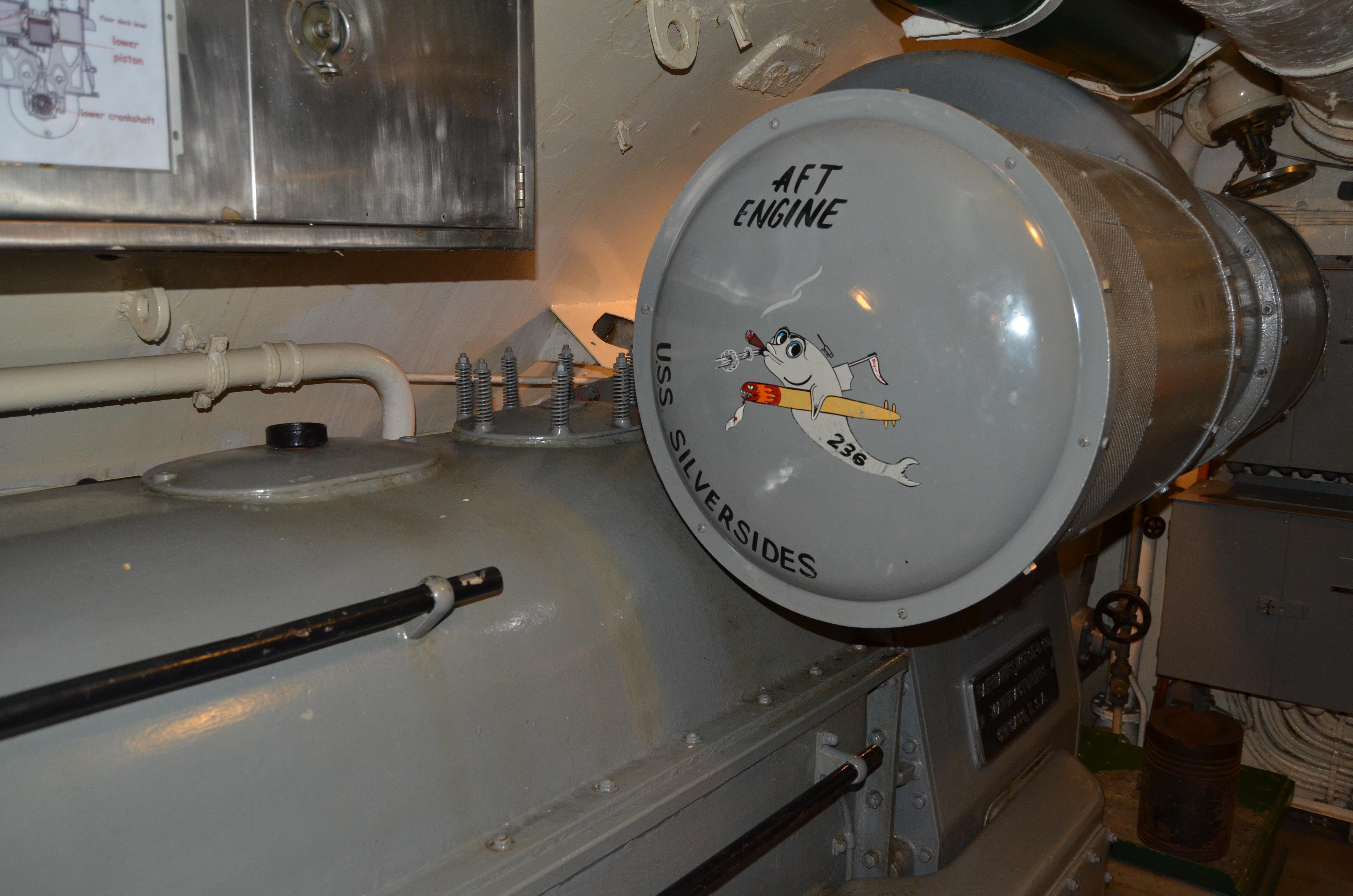 USS Silversides Submarine Museum Aft Engine