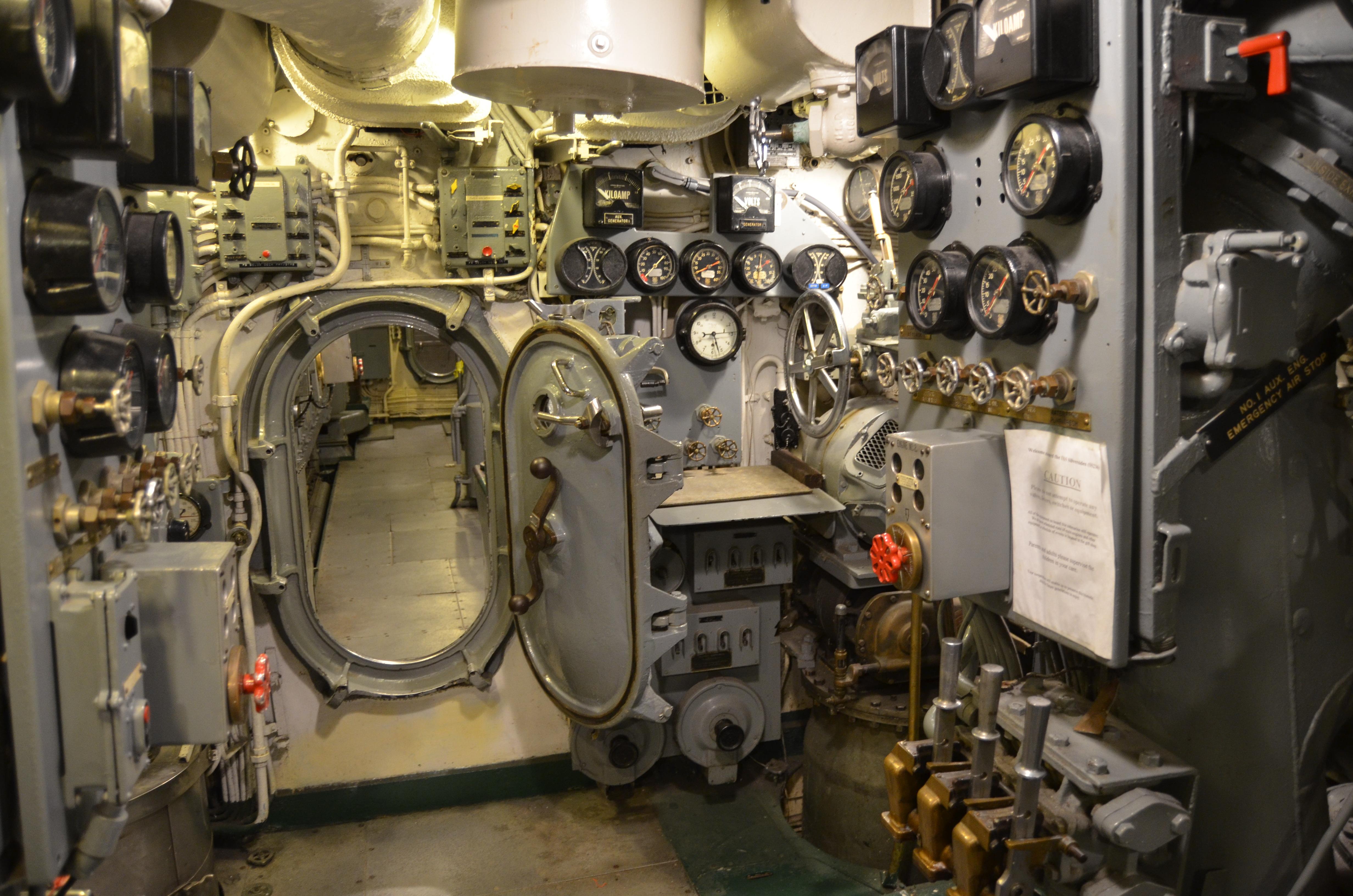 USS Silversides Submarine Museum Below Deck Hallway